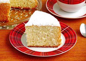 Простой бисквитный корж для торта