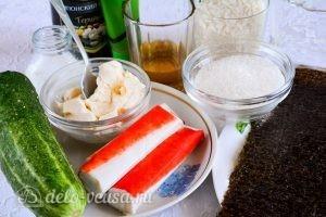 Роллы с крабовыми палочками: Ингредиенты