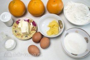 Карамельный медовик с апельсиновым кремом: Ингредиенты