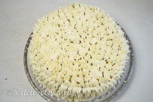Карамельный медовик с апельсиновым кремом: Украшаем торт