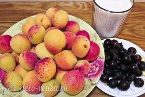 Компот из абрикосов и черной смородины на зиму: Ингредиенты