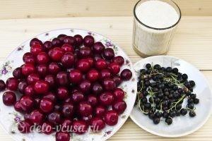 Вишневый компот с черной смородиной на зиму: Ингредиенты
