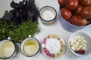 Маринованные помидоры быстрые: Ингредиенты