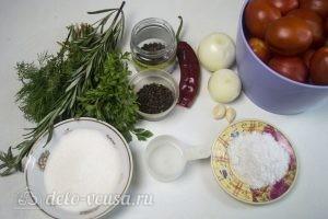 Маринованные помидоры дольками: Ингредиенты