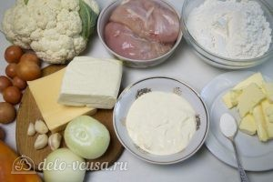 Овощной пирог: Ингредиенты