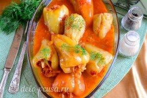 Перец, фаршированный овощами: Горячее блюдо можно подавать к столу