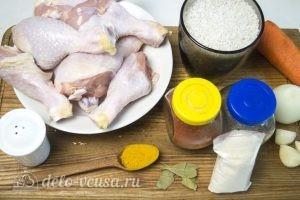 Рис с куриными ножками в духовке: Ингредиенты
