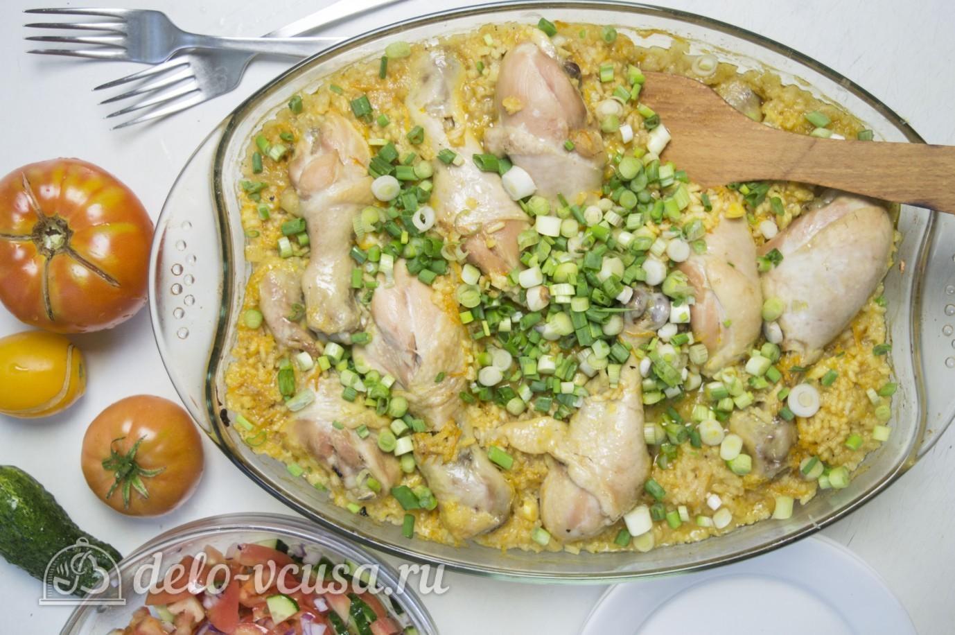 Рис с куриными ножками в духовке