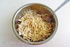 Салат с кальмарами и рисом: Перемашать