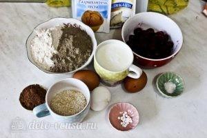 Шоколадный кекс с вишней: Ингредиенты