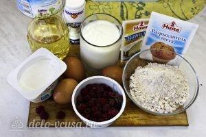 Творожный кекс с малиной: Ингредиенты