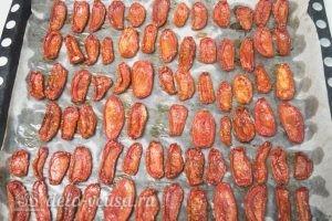 Вяленые помидоры: Проверять готовность