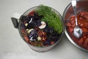Замороженная томатная паста: Нужно все ингредиенты измельчить