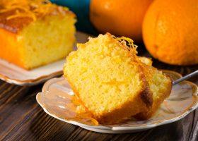 Апельсиновый кекс с пропиткой