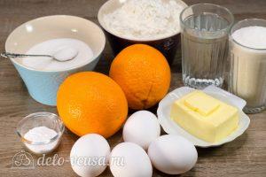 Апельсиновый кекс с пропиткой: Ингредиенты