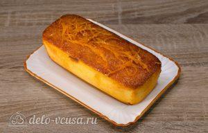 Апельсиновый кекс с пропиткой: Пропитать кекс сиропом