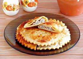 Рецепт чебуреки на кефире с мясом