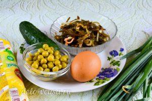 Салат из морской капусты с огурцом: Ингредиенты