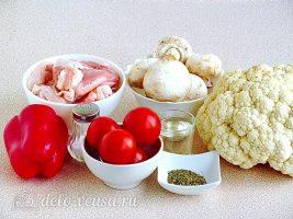 Овощное рагу с курицей в мультиварке: Ингредиенты