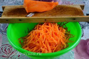 Морковь по-корейски с приправой: Морковь натереть на терке