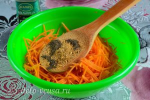 Морковь по-корейски с приправой: Добавить приправу