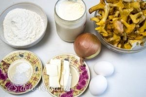 Пирог с лисичками: Ингредиенты