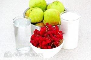 Повидло из яблок и калины: Ингредиенты