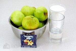 Повидло яблочное с ванилином: Ингредиенты