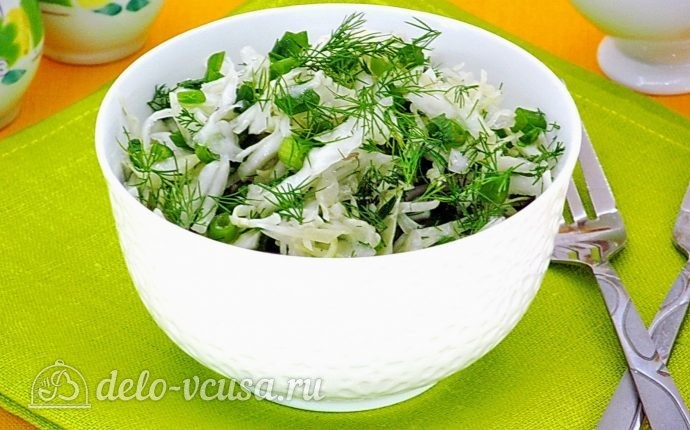 Салат из капусты с зеленью