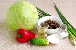 Салат из морской капусты с овощами: Ингредиенты
