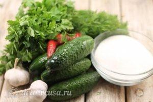 Сладкие огурцы на зиму: Ингредиенты