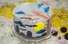 Тыквенный торт с творожным кремом