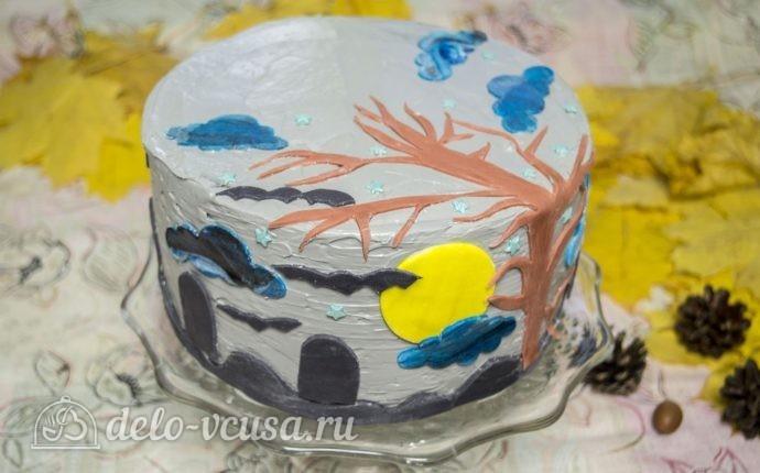 Тыквенный торт с творожным кремом на Хэллоуин: фото блюда приготовленного по данному рецепту