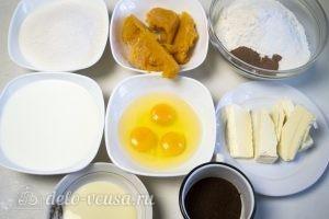 Тыквенный торт с творожным кремом: Ингредиенты