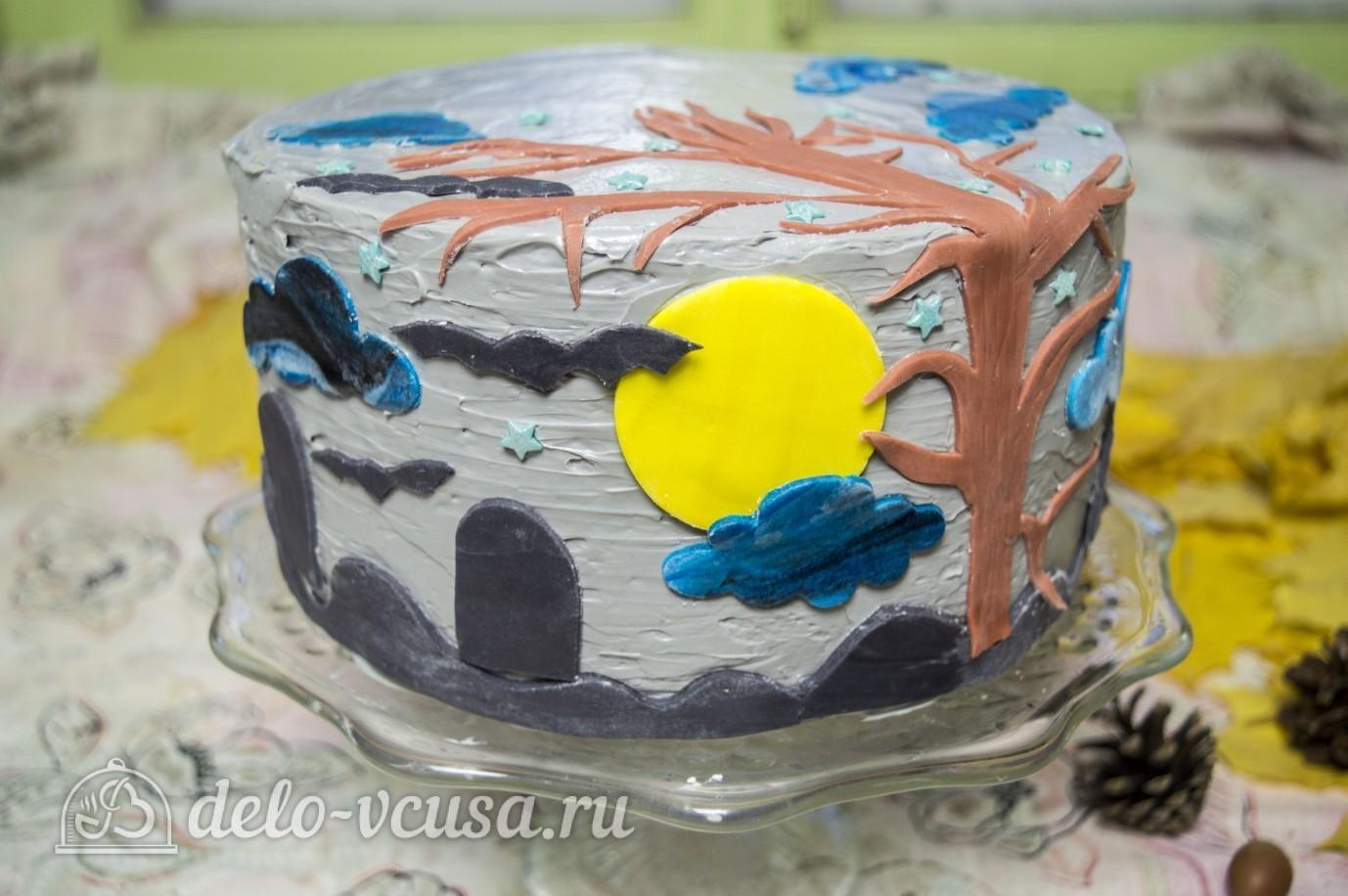 торт с творожным кремом и мастикой рецепт