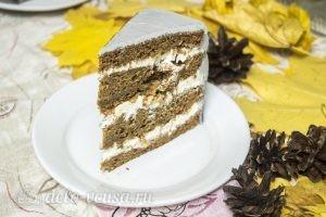 Тыквенный торт с творожным кремом готов