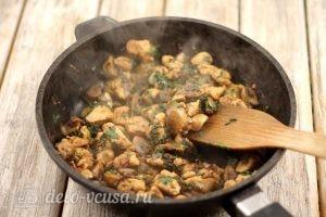 Киш с курицей и грибами: Доводим до готовности