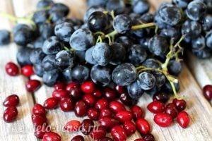 Компот из кизила и винограда на зиму: Ингредиенты