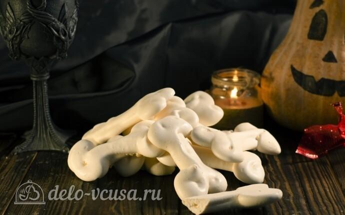 Кости из безе на Хэллоуин