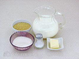 Пшенная каша на молоке в мультиварке: Ингредиенты