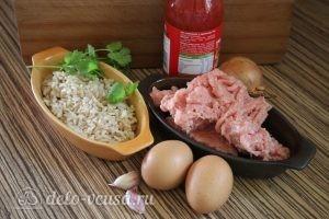 Тефтели из индейки с рисом: Ингредиенты