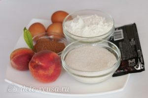 Шоколадный торт с персиками: Ингредиенты