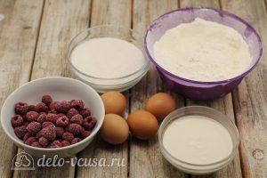 Бисквитный торт с малиной: Ингредиенты