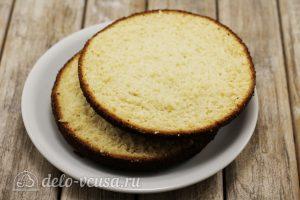 Бисквитный торт с малиной: Выпекаем коржи