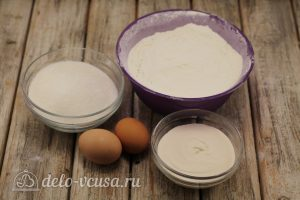 Заварные блины на сливках: Ингредиенты