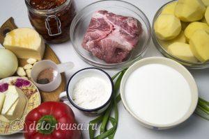Картофельная запеканка с соусом: Ингредиенты