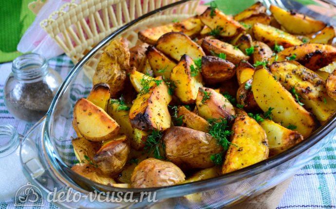 картошка по деревенски в духовке в пакете рецепт