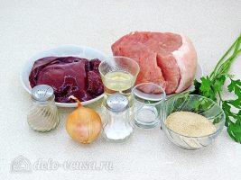 Котлеты из свинины с печенью: Ингредиенты