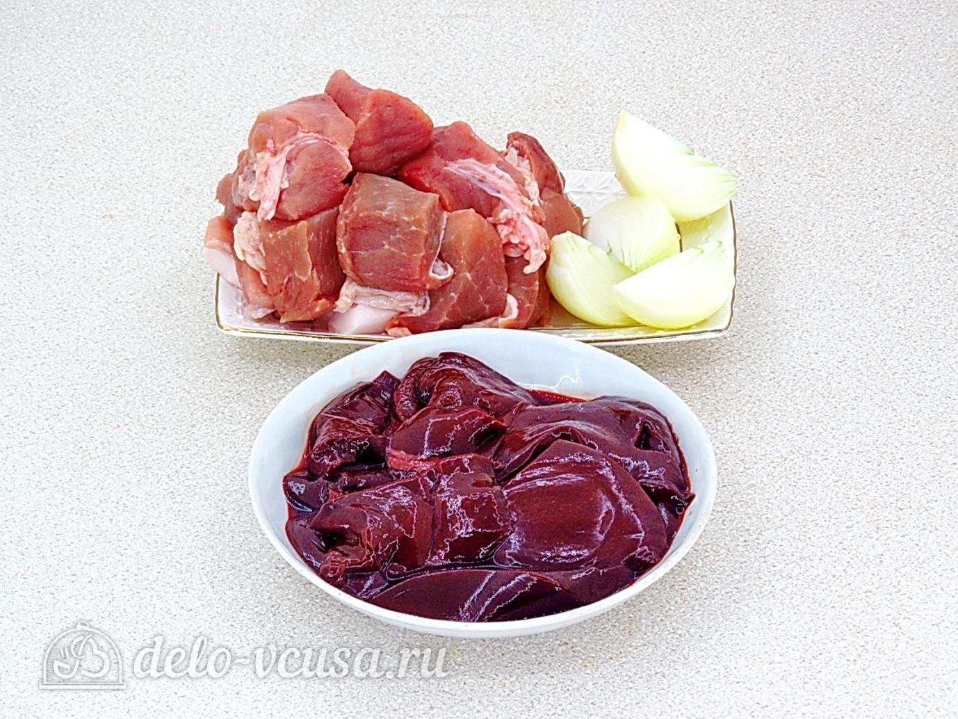 Котлеты из свинины с печенью: Подготовить мясо и печень