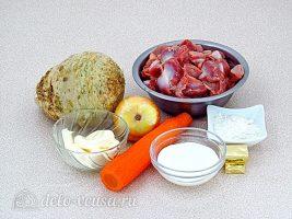 Куриные желудки, тушенные в сметане: Ингредиенты